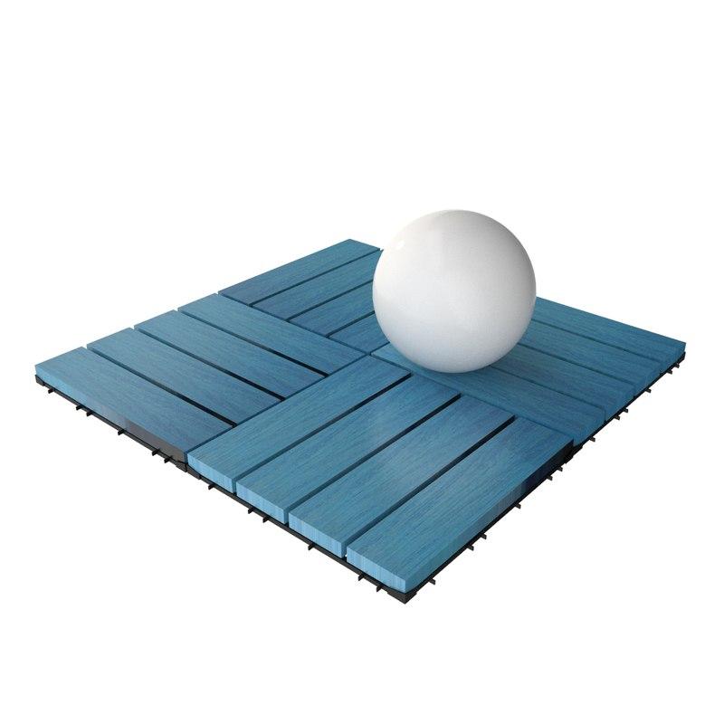3d model of wooden deck tile v12