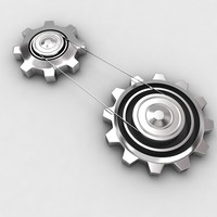 3d model mechanical machine gears