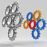 mechanical machine gears 3d model