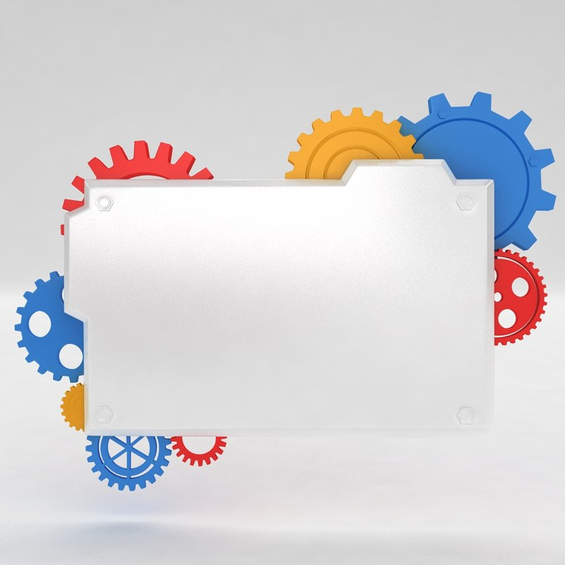 3d model mechanical machine gears