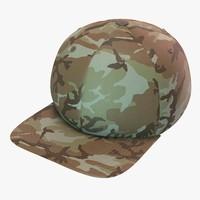 3d model camo baseball cap