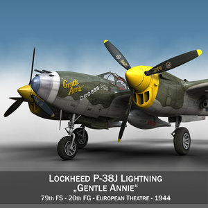 3d lockheed lightning - gentle