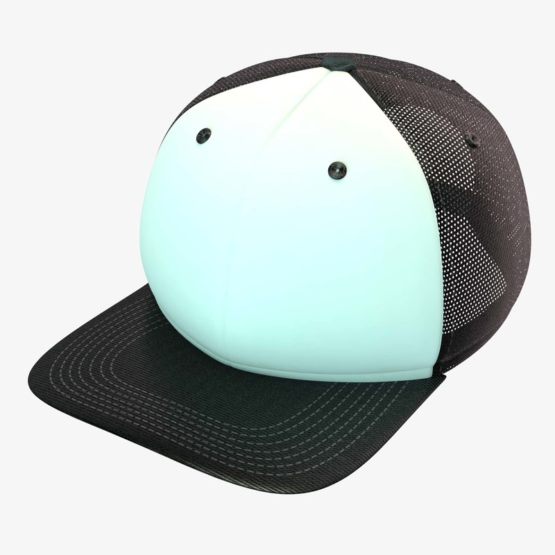 c4d black white baseball cap