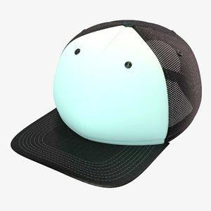 c4d black white baseball cap