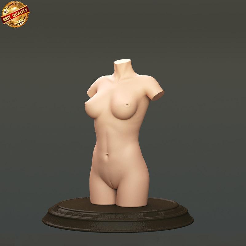 modeled body female anatomy human 3d ma