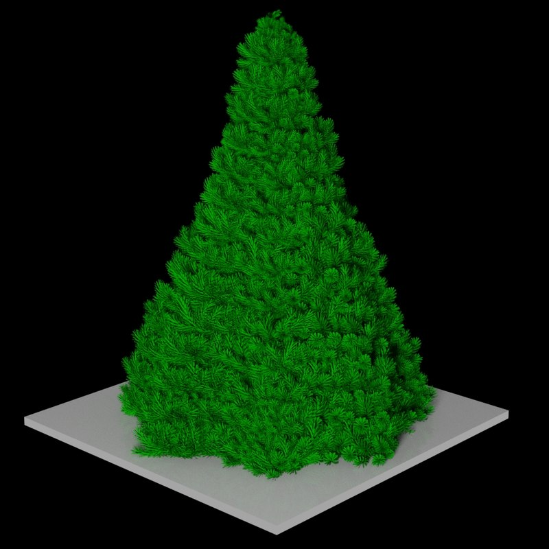 stylish christmas tree 3d model
