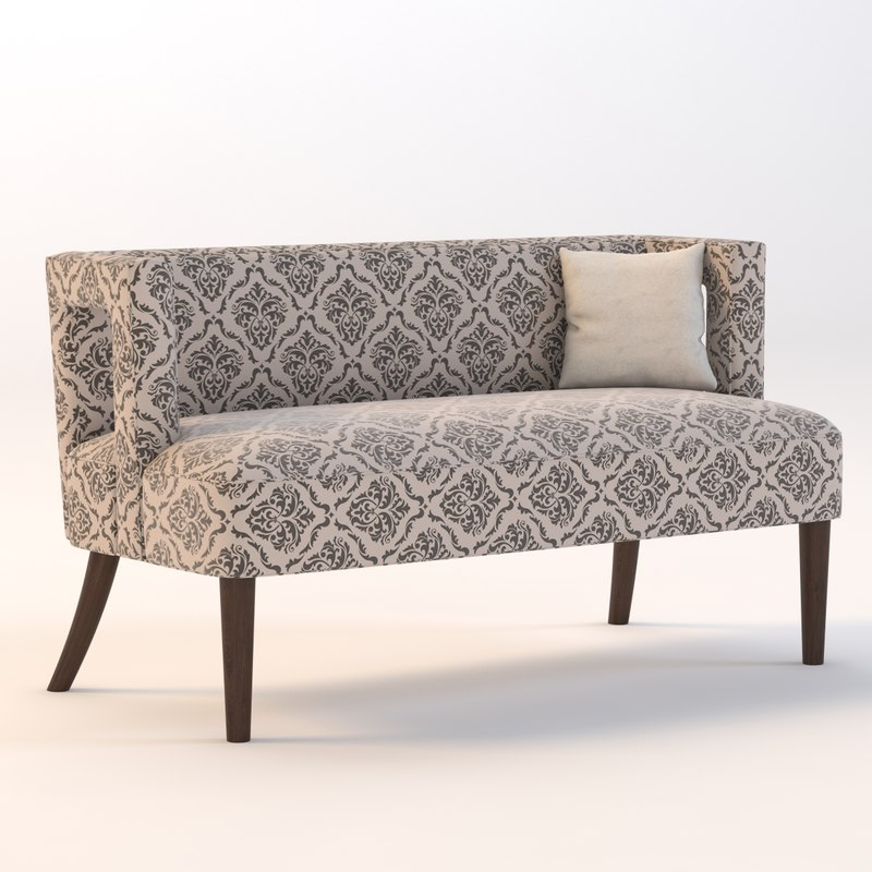 3d carrie settee