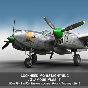 3d model lockheed lightning - glamour