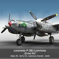 3d lockheed lightning - gung