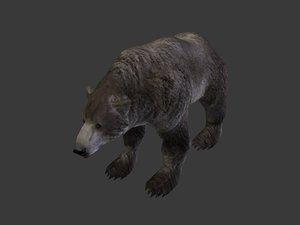 3d dark bear model