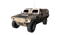 3d french military car
