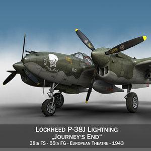 lockheed lightning - journeys 3d c4d