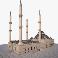 3d architecture mosque bursa model