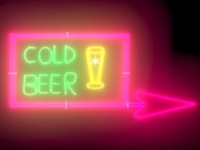 3d cold beer neon sign