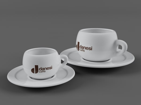 3d coffe cups danesi model