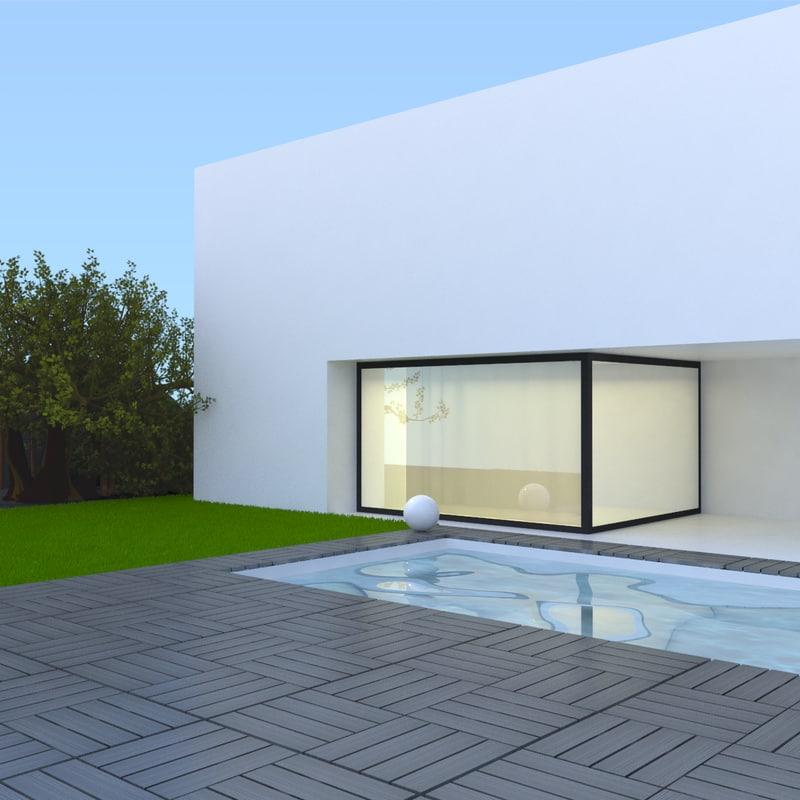 3d modern pool 12 decks
