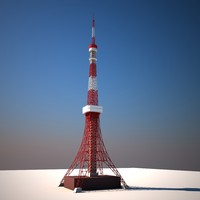 Tokyo Tower Low poly