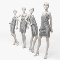 Woman mannequin silver Dress