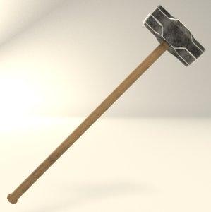 3d model sledgehammer hammer