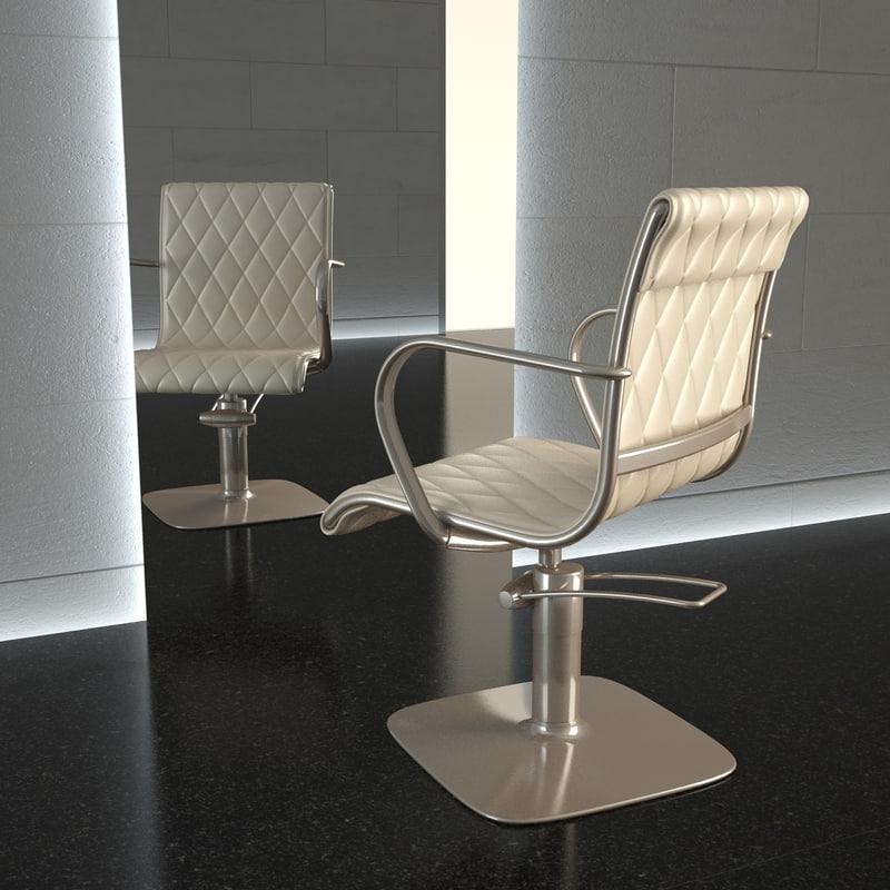 chair hair alu-chair 3d model