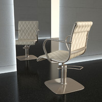chair hair alu-chair 3d model