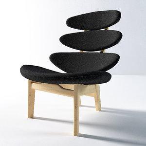 3d model corona chair erik
