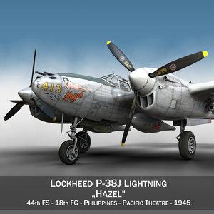 3d lockheed lightning - hazel