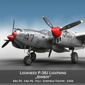 lockheed lightning - jewboy 3d c4d