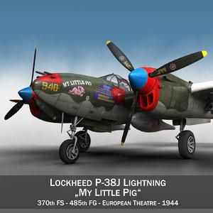 lockheed lightning - little 3d obj