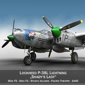 3d lockheed lightning - shadys