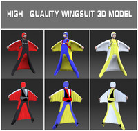 wingsuit skydiving 3d model