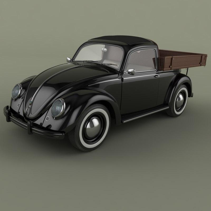 beetle pick-up 3d obj
