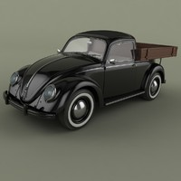 beetle pick-up 3d obj