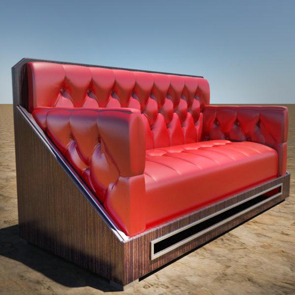 3d modern tufted sofa model