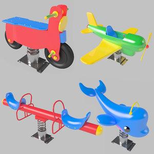 3d spring swing model