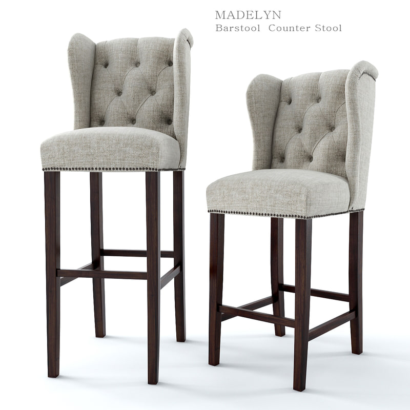 3ds max madelyn bar stool