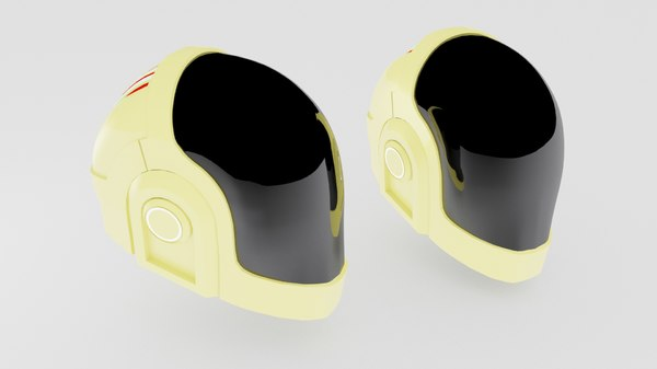 3d model daft punk helmet
