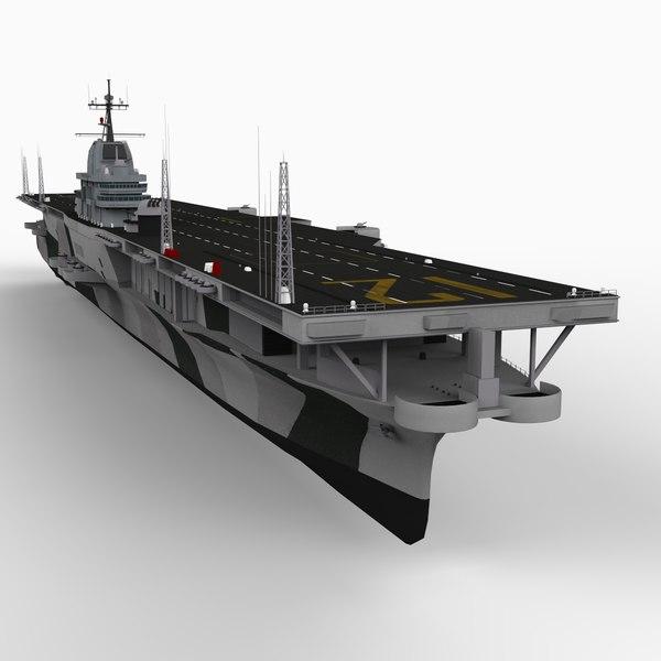 uss hornet aircraft carrier 3d model