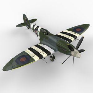 3dsmax mk xiv spitfire supermarine