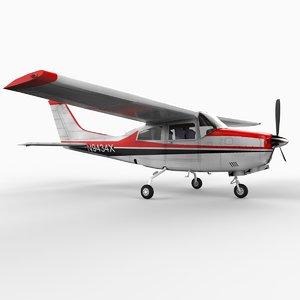3d model 1961 private plane
