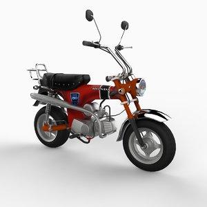 3d model 1969 honda dax minibike