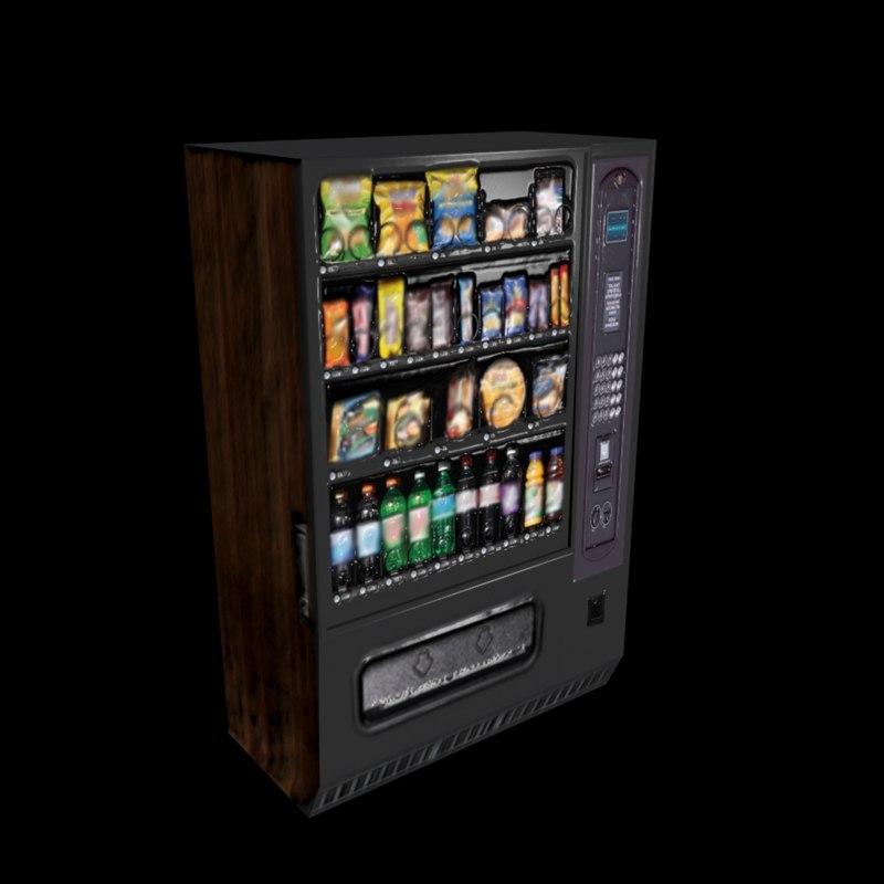 free snack machine 3d model
