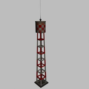 3d model airbase water tower