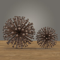 3d model iron nail sphere