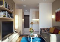 3ds max scene flat interior design
