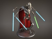 Star Wars General Grievous rigged for 3dsmax