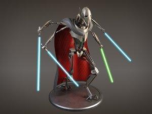3d general star wars model