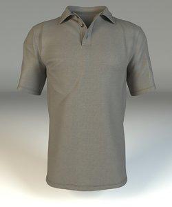 polo shirt 3d max