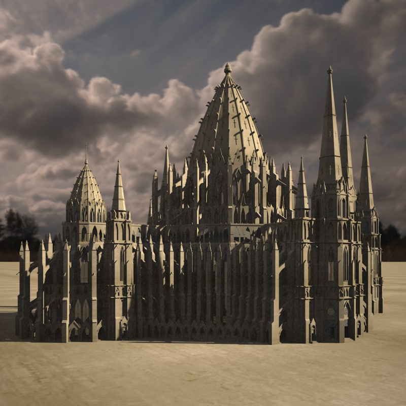 3d model cathedral gothic