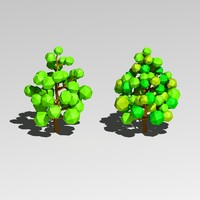 cartoon trees 3d 3ds